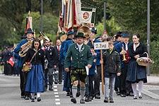 22.09.2017: Kirchenzug, Festgottesdienst, Festzug & Festzelt zum 125-jährigen Jubiläum der Reichenhaller BRK-Bereitschaft