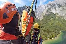 09.09.2018: 58-Jähriger überlebt 50-Meter-Absturz in der Watzmann-Ostwand