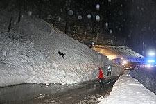 13.01.2019: Lawine verschüttet die Deutsche Alpenstraße (B305) am Gletschergarten